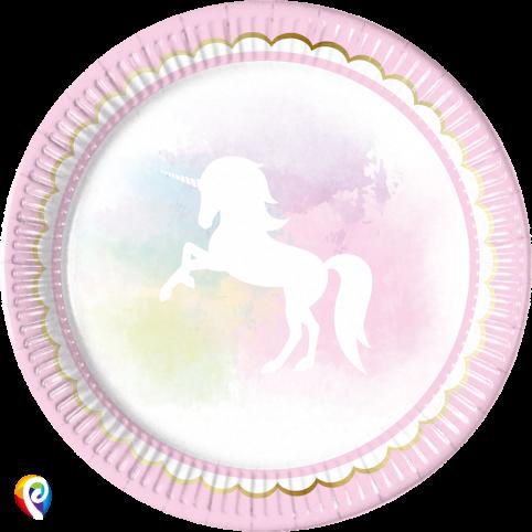 Believe in Unicorns paper plates