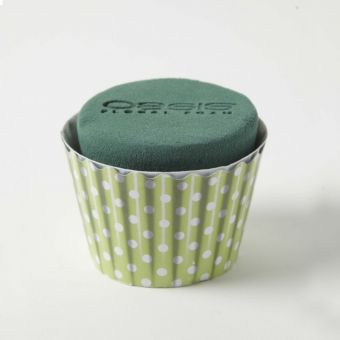 OASIS® Ideal Floral Foam Maxlife Cupcakes - Mint Dot - 8cm (Pack of 6)