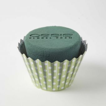 OASIS® Ideal Floral Foam Maxlife Cupcakes - Mint Dot - 12cm (Pack of 6)