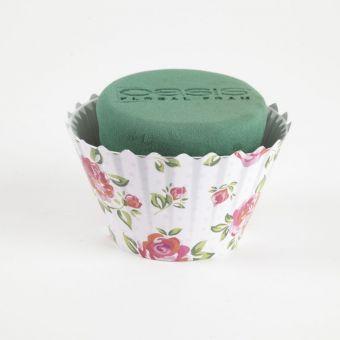 OASIS® Ideal Floral Foam Maxlife Cupcakes - Pink Large Rose - 12cm (Pack of 6)