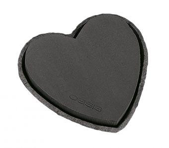 OASIS® Biolit Noir Ideal Floral Foam Solid Heart Pack