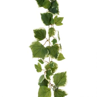 Artificial French Ivy Garland Variegated Green