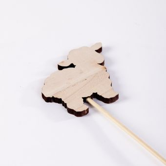 Wooden Sheep Pick - 10cm x 40cm (Pack of 12)
