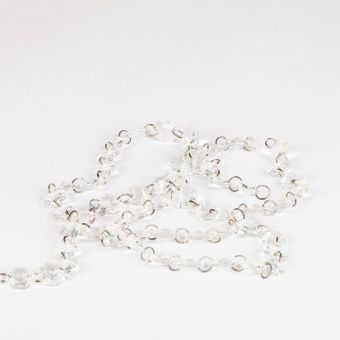 Crystal  Bead Chain - Iridescent - 14mm x 3m