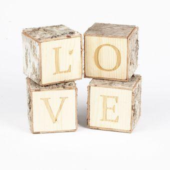 Birch Bark LOVE Cubes