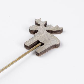 Wooden Moose Pick - Grey - 30cm x 7cm (Pack of 12)