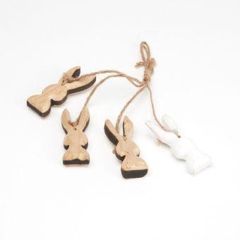 Wooden Bunny Hangers