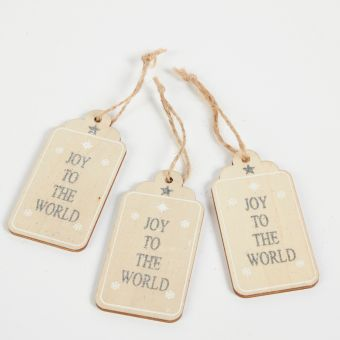 Wooden Paper Tag Winter Wishes