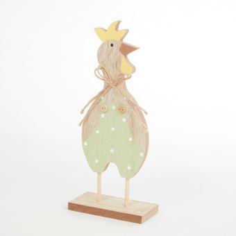 Wooden Standing Chicken - 24cm