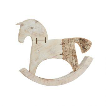Wood & Birch Rocking Horse 40cm
