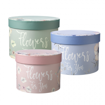 Flowers For You Lined Hat Box (Set of 3)