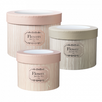 Oxford Lined Hat Box with Clear Lid (Set of 3)