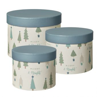 Lonesome Pine Lined Hat Box (Set of 3)