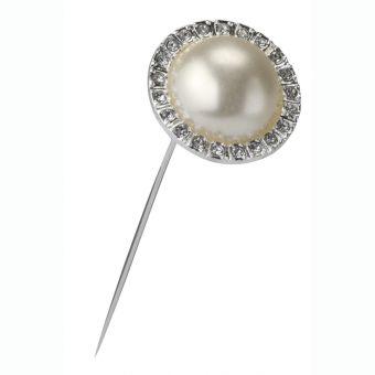 Pearl & Diamante Brooch