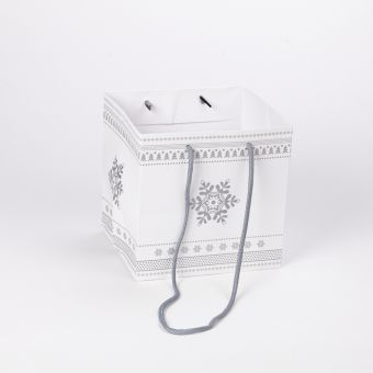 Silver Snowflake Porto Bag