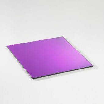 Square Mirrored Plate - Lilac - 35cm