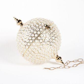 Crystal Globe -  Gold - 26cm