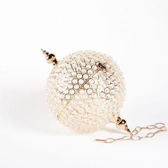 Crystal Globe -  Gold - 16cm