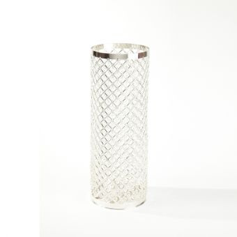 Silver & Crystal Column - 60cm