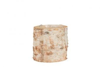 Wooden Log Lined Pot