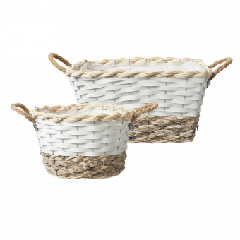 Hawkes Bay Lined Baskets (Set of 3)