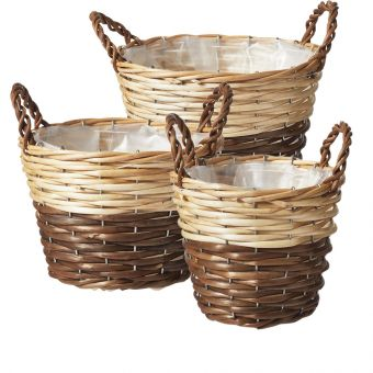 Cranor Lined Baskets (Set of 3)
