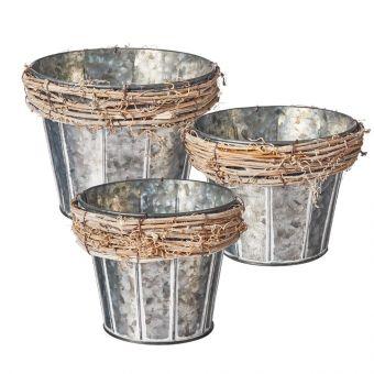 Grapevine Lined Pot