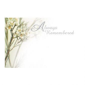 Always Remembered White Flower