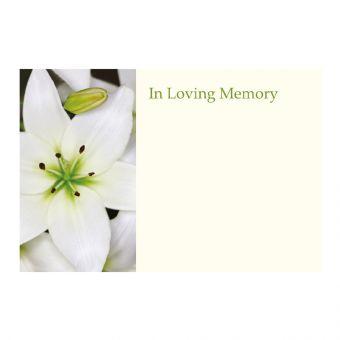 In Loving Memory White Lily