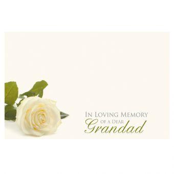 In Loving Memory of a Dear Grandad White Rose