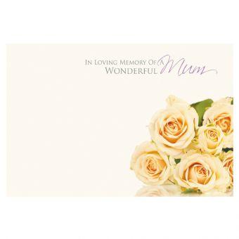 In Loving Memory of a Wderful Mum Crm Roses
