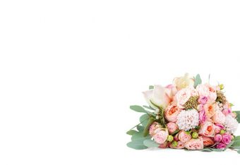 Posy of Flowers Classic Plain Card
