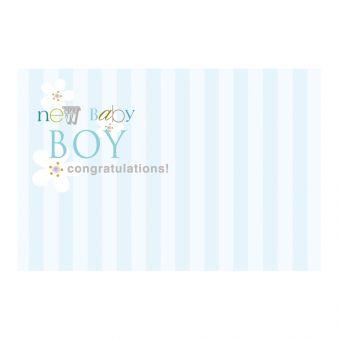 New Baby Boy - Blue Pinstripe