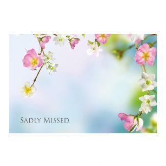 Sadly Missed - Wild Flowers