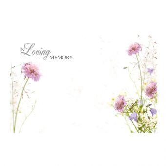 In Loving Memory - Wild Flowers - Folded