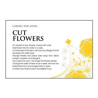 Designer Care Card - Cut Flower