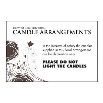 Candle Arrangement Care Card