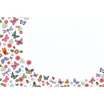 Butterfly, dragonfly, flower pattern