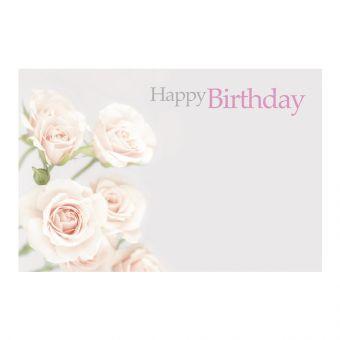 Happy Birthday, Pastel Pink Roses