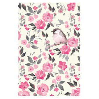Vintage Bird, Pink Flowers