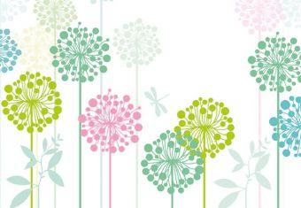 Modern Flower Folded Plain Card