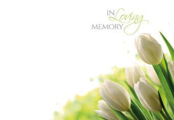 In Loving Memory - Tulips Remembrance Card