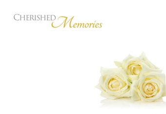 Cherished Memories - Ivory Roses Remembrance Card
