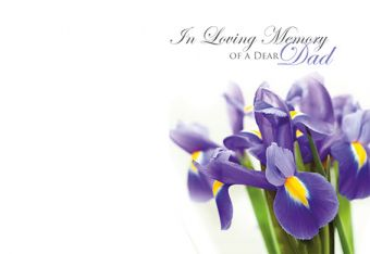 In Loving Memory of a Dad - Iris Remembrance Card