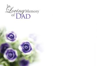 In Loving Memory of a Dad - Miniature Rose Remembrance Card