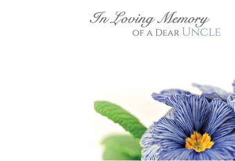 In Loving Memory of a Dear Uncle - Pansy Remembrance Card
