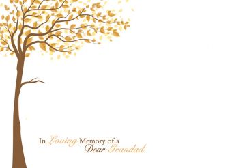 In Loving Memory of a Dear Grandad - Brown Tree Large Remembrance Card