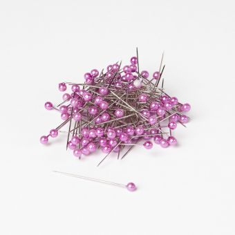 Round Headed Pearl Pins - Lavender - 40mm x 4mm