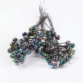 Pearl on Wire - Petrol - 6mm