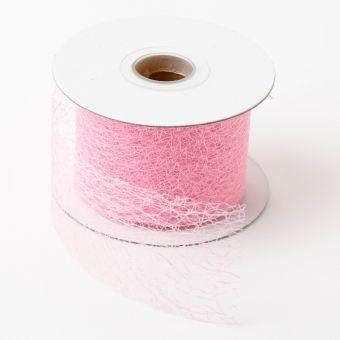Silk Mesh Ribbon Pale Pink